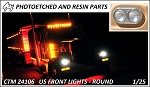 US Front lights Round (Revell)