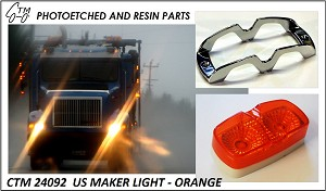 Photo Etch US Marker Lights - Orange